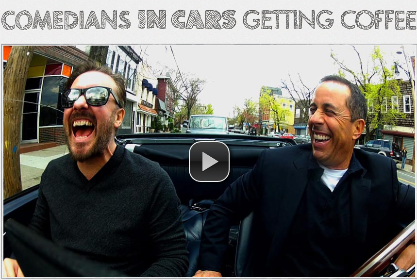 Comedians Getting Coffee In Cars Ricky Gervais
